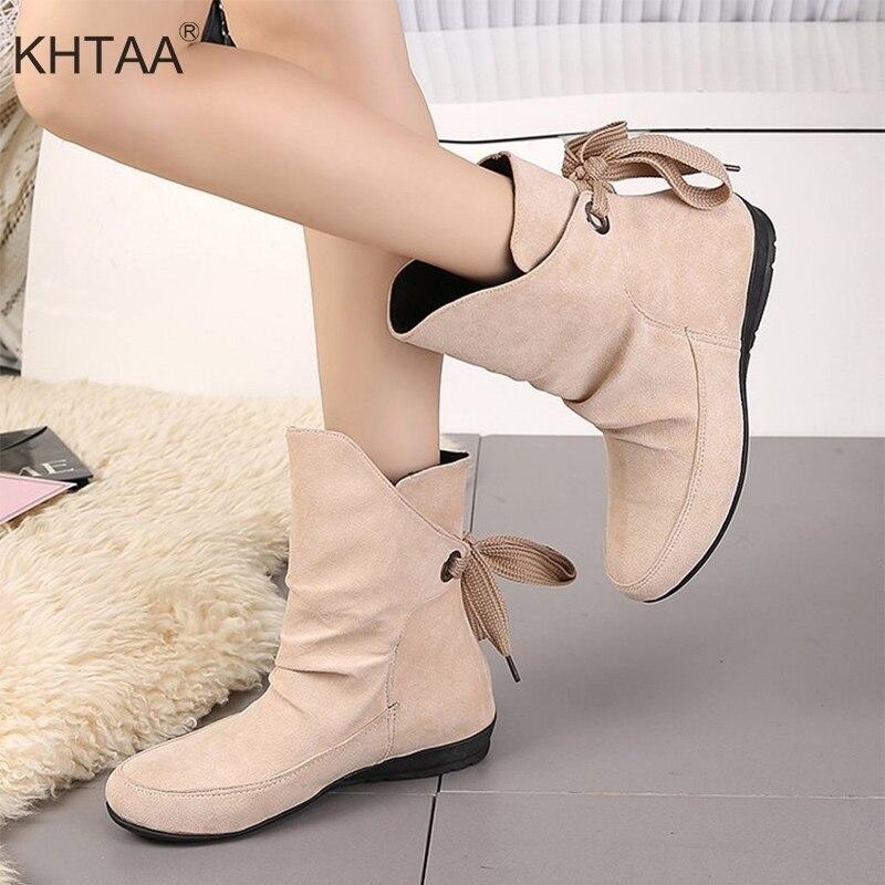 все цены на Plus Size Women Lace Up Ankle Boots Flat Platform Casual Lace Up Comfortable Female Shoes 2018 Fashion Ladies Leisure Footwear