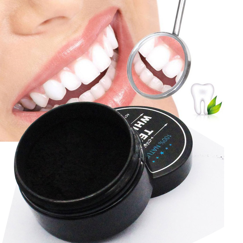 Teeth Whitening Powder Black Bamboo Charcoal Tooth Whitener Oral Dental Care Cleaning Tool Pure off Plaque Stains 1 Piece