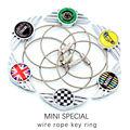 For Mini Cooper S Keychain Ring Car Accessories Decoration Sticker Clubman Countryman  R53 R55 R56 R57 R58 R59 R60 R61 F55 F56