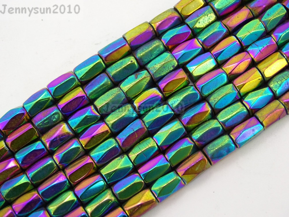 ᐅmetallico multi colored ematite gems pietra naturale sfaccettato