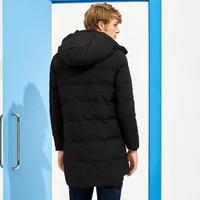 Пионерский лагерь новое длинная толстая зимняя куртка брендовая мужская одежда черный однотонная теплая куртка с капюшоном мужская качественная парка куртка AMF705287