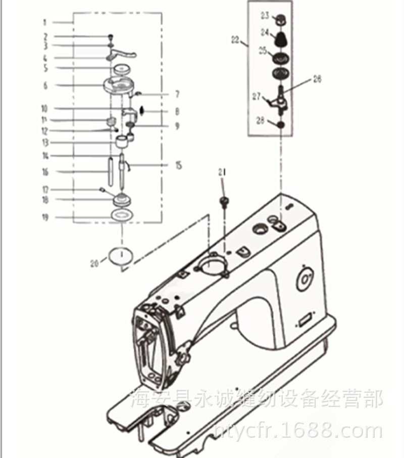 Sewing Mchine Parts Jack Computer Flat Car Winding Machine 9100bs Li