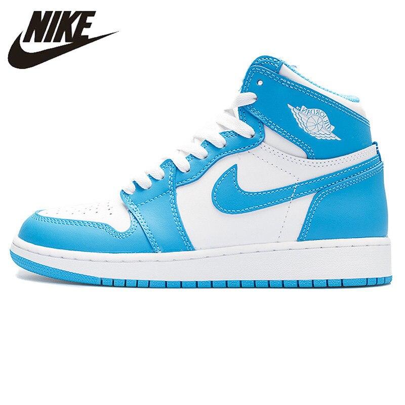 US $89.0 50% OFF|Nike Air Jordan 1 Retro High OG UNC Joe AJ1 Men's Basketball Shoes Sneakers, Original Outdoor Non slip Shoes 555088 117 in Basketball
