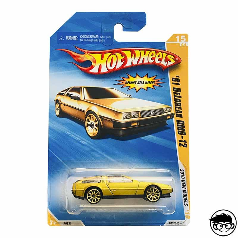 Hot Wheels '81 Delorean DMC-12 2010 New Models 015/240 2010 Long Card