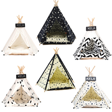 JORMEL Pet Tent Dog Bed Cat Toy House Portable Washable Pet Teepee Stripe Pattern  Fashion 2019 Not Included Mat