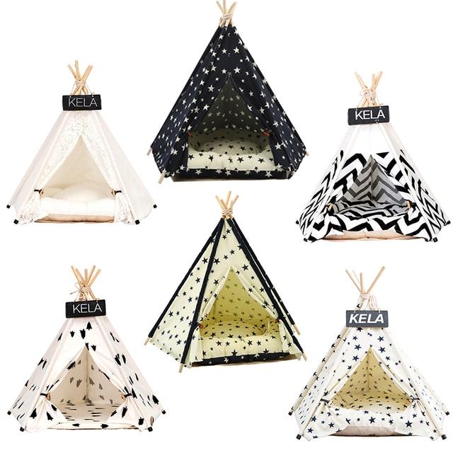 JORMEL namiot dla zwierząt domowych łóżko dla psa kot domek zabawkowy przenośny zmywalny Pet tipi Stripe Pattern Fashion 2019 nie zawiera Mat