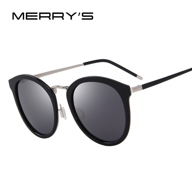 4199e94c7f MERRY S Women Brand Designer Cat Eye Sunglasses Fashion Polarized Sun  Glasses Metal Temple 100% UV Protection S 6168