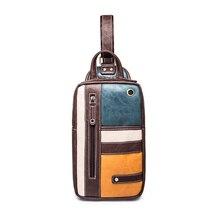 Vintage Herren Funktionsgeldbeutel mehrschichtbeutel Locker Lässig Brust Tasche Pack Morden Außen Großen Kapazität umhängetasche Patchwork Pack