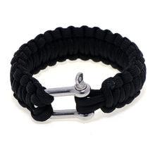 Мужской плетеный браслет из нержавеющей стали с u образной пряжкой