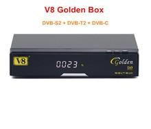 100% Genuino V8 de Oro DVB-S2 + T2 + C Powervu Youtube IPTV Receptor Satélite Digital HD Envío gratis