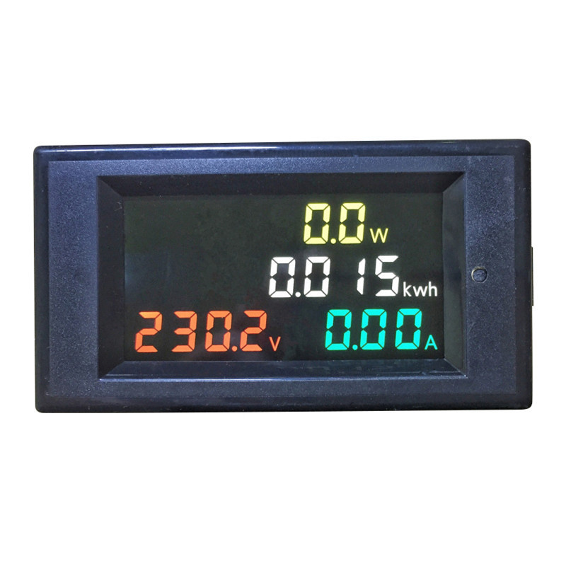 AC80-300V 100A Multi- Functional Color Screen Current Voltage Power Meter D69-2049