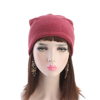 Women Headband 2018 Autumn New Plus Velvet Caps Men And Lady Piled Up Hats Unisex Wool Cap TTM106 Hair Accessories Free Shipping