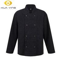 New Chef Uniform Long Sleeve Autumn Winter Hotel Restaurant Kitchen Man Chef Jacket