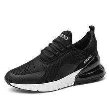 Hot Sale Plus Size Autumn Black Retro Men Trainers Air Shoes Breathable Air Cush