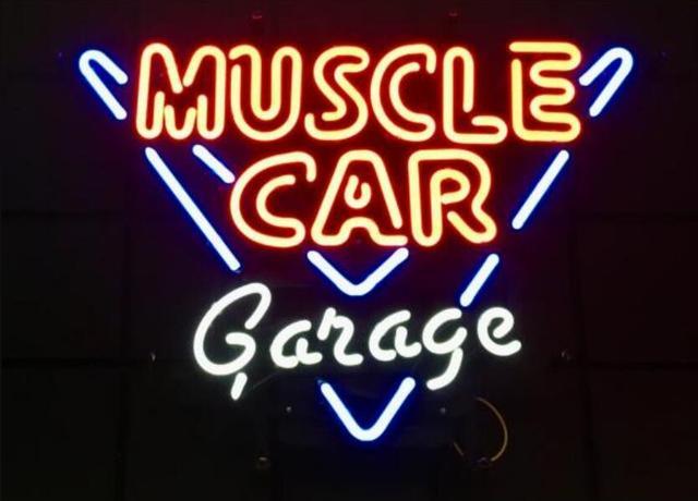 Custom Muscle Car Garage Glass Neon Light Sign Beer Bar 1