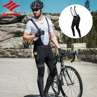 Santic для мужчин Велоспорт осень зима теплый и ветрозащитный велосипед Велоспорт нагрудник шорты ремни Велоспорт велосипед дышащая одежда ч