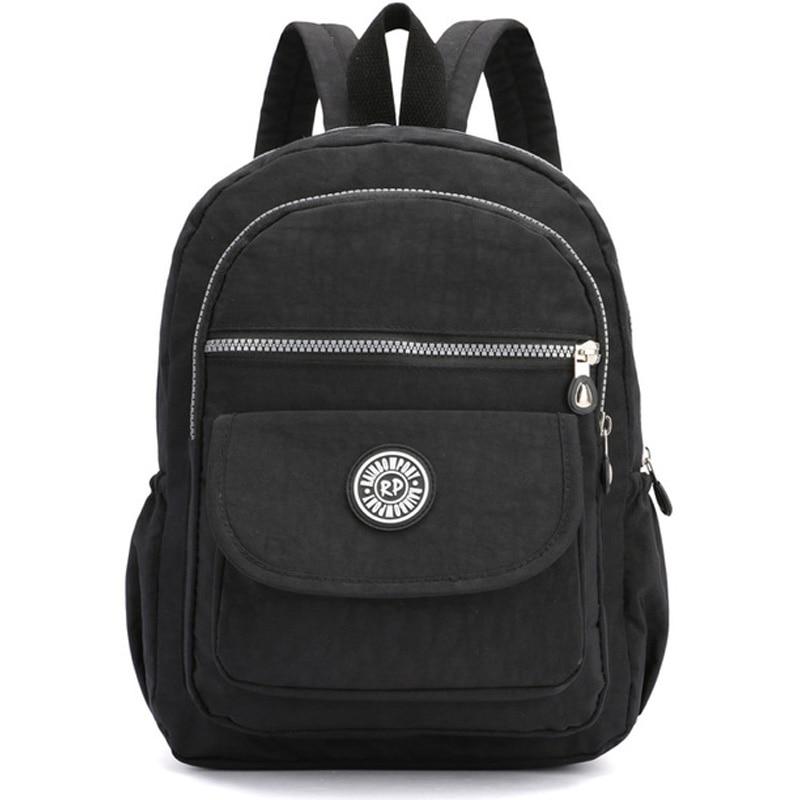 Small Women Casual Backpack Nylon Waterproof Mini Backpack for Women Fashion Ladies Mochila Feminina School Bags for Teenagers