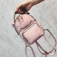 Vintage Pu Leather Feminine Quilted Small Women Pink Backpack Youth Cute Mini Backpacks For Teenage Girls