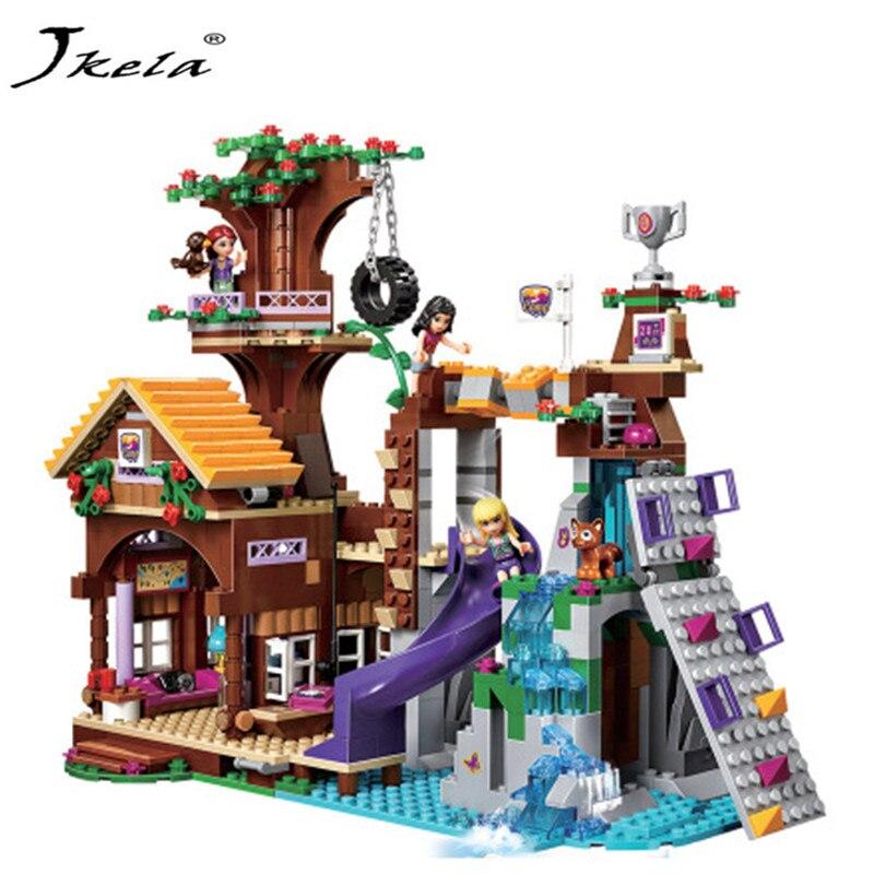 [Nouveau] 739 pcs Amis Aventure Camp Arbre Maison balançoire Modèle Blocs de Construction Fille Jouets Compatible Avec LegoINGly amis