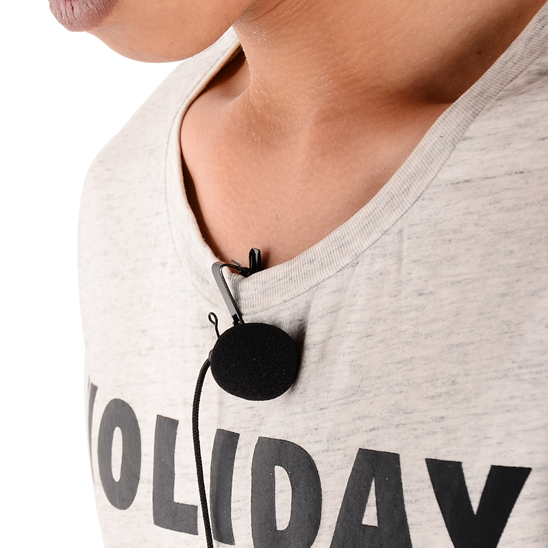 Ollivan Omnidirectional Metal Microphone 3.5mm Jack Lavalier Tie Clip Microphone Mini Audio Mic for Computer Laptop Mobile Phone 6