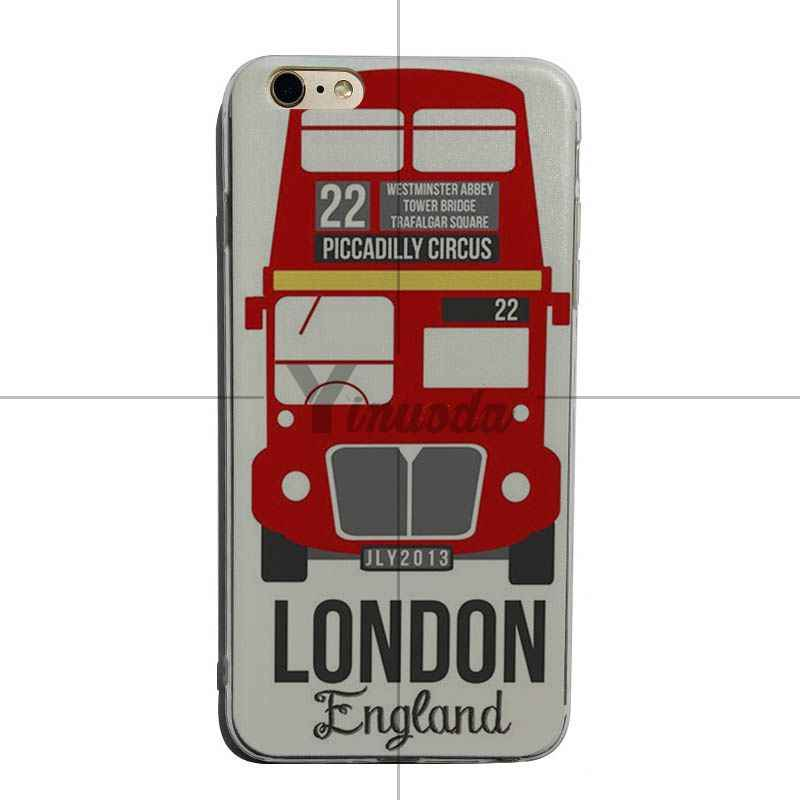 Yinuoda London big ben Bus Luxury Quality transparent soft Phone Case For iPhone 6 6plus 7 7Plus 8 8plus X XS XR XSMax