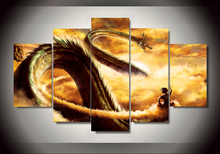 Hohe Qualität 5 Panels Home Decor dragon ball Wandkunst Malerei Für Wohnzimmer unframed
