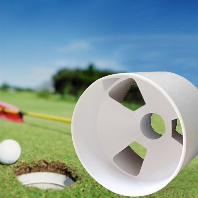 Fishsunday Plastic Backyard Practice Golf Hole Pole Cup Flag Stick Putting  Green Great Golf Accessory Drop