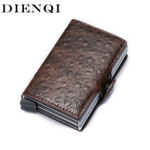 DIENQI Men Rfid Credti Card Holder Wallet Case Protective Business Card Holder Protection Aluminum Metal Wallet for Credti Cards(China)