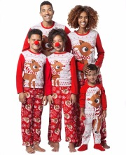 Family Matching Outfits Fashion  Adult Kids Pajamas set Nightwear Sleepwear Red Pyjamas Christmas Set