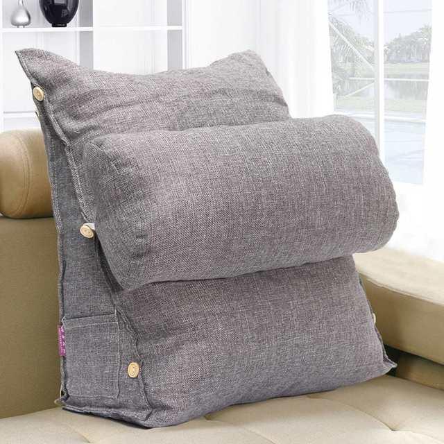 gris reglable canape lit oreiller chaise reste neck support retour coin coussin fip oreiller cervical protection