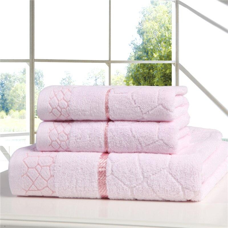 J pinno Gesicht Bad Handtuch Set Baumwolle 3 stücke Wasser Cube Rosa Blau Gelb Super Weiche Hohe Absorbent Antibakterielle Erwachsene medizin Waschen