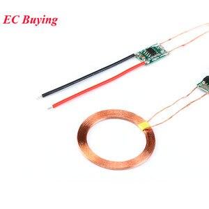 5 v 1a/2a módulo carregador sem fio fonte de alimentação transmissor receptor bobina carregamento placa circuito terminal para telefone eletrônico diy