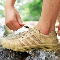 Outdoor Fast Dry Waterproof Wading Shoes Ultra Light Non slip Water Sports Shoes Summer Hiking Mesh Breathable Fishing Aqua Shoe
