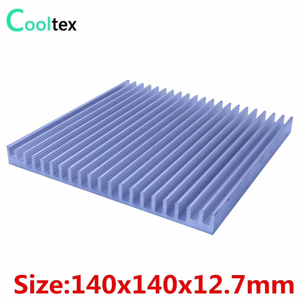 High power 140x140x12.7mm radiator Aluminum heatsink cooler heat sink for LED Electronic integrated circuit heat dissipation high power pure copper heatsink 150x80x20mm skiving fin heat sink radiator for electronic chip led cooling cooler