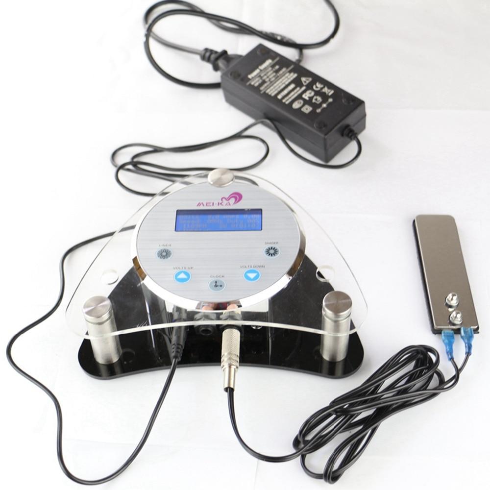 Alimentation numérique professionnelle de Machine de maquillage d'alimentation d'énergie de tatouage d'affichage à cristaux liquides avec la pédale de pied et le câble d'alimentation de cordon d'agrafe