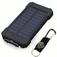 Горячее портативное водонепроницаемое солнечное зарядное устройство 30000 mah двойное USB Солнечное зарядное устройство для всех телефонов универсальное зарядное устройство