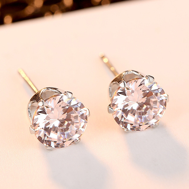 Dreamy Bubble Stud Earrings Women Zircon Earrings Women Cute&Romantic Dazzling Earrings Jewelry Accessories Girls