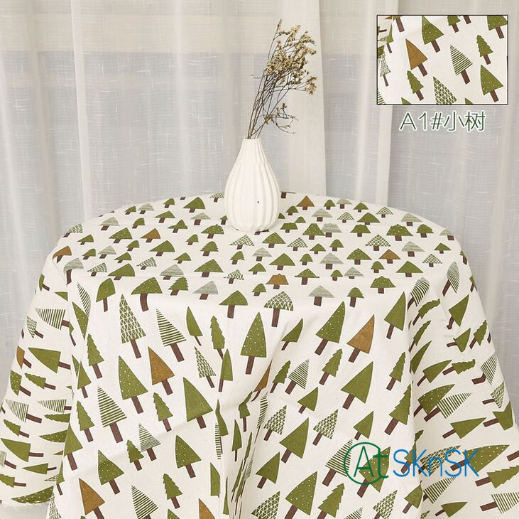 1meter Lot Cheap Fabric Floral Leaves Cloth For Table DIY Handmade Curtain Home Decoration Cotton Linen
