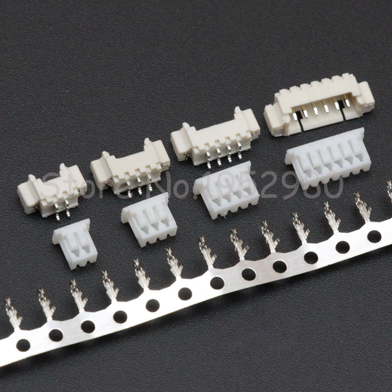 10 Set 1.25mm Pitch Connector JST SMD Horizontal Straight Pin 2/3/4/5/6/7/8/9/10/11/12P ( Pin Header + Housing + Terminal ) 10 pcs 2 3 4 5 6 7 8 9 10p dual row 2 54mm pitch smd type surface mount dip switch