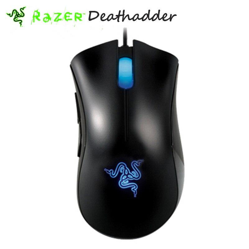 Prix pour D'origine Razer Deathadder souris 3500 dpi 3.5G Infrarouge Capteur Egonomic droitier Gaming Mouse + Souris Sac Sans la boîte de détail