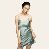 Women 100 Real Silk Nightgowns Sexy Lingerie Nightdress Night Home Dresses Natural Mulberry Silk Sleepwear Nightgowns