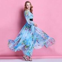 2015 spring and summer womens bohemia Floral full dress chiffon plus size beach Maxi bridesmaid Dress maternity