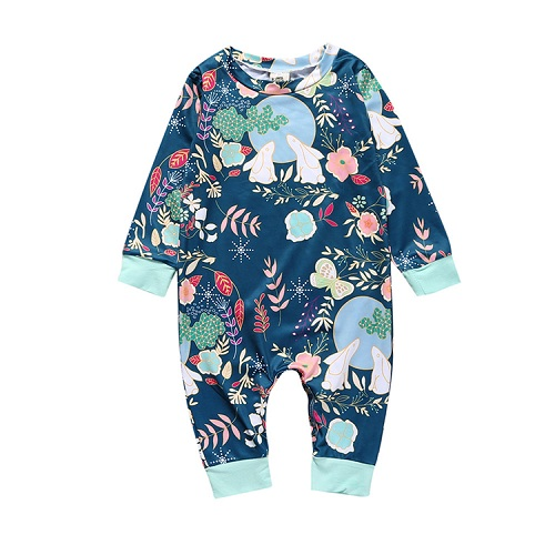 YZ101 Autumn Newborn Baby Boys Girls Long Sleeve Flower Cartoon Cute Rabbit Moon Sliders Overalls Suits Women Beach Suit Clothes cotton baby rompers set newborn clothes baby clothing boys girls cartoon jumpsuits long sleeve overalls coveralls autumn winter