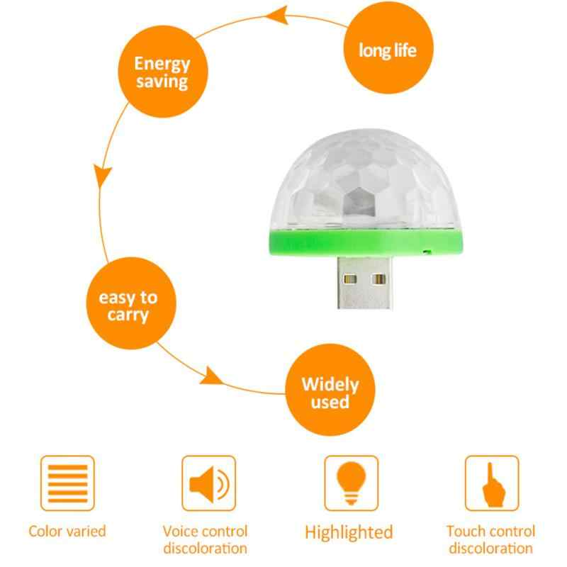 USB Mini светодиодный ночник Цвет изменены звук музыки волшебные огни Светодиодный светильник RGB лампы для стороны украшения