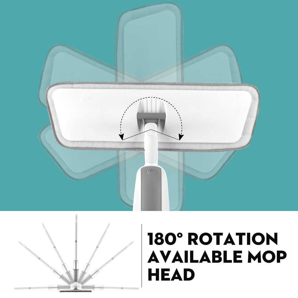 マジックスプレーモップ木製床再利用可能なマイクロファイバーパッド 360 度ハンドル家の窓キッチンモップ掃除ほうきクリーンツール
