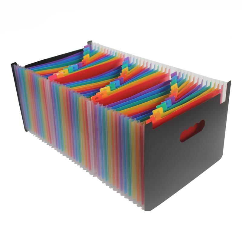 все цены на 24 Pockets A4 File Folder Information Book Paper Clip Folder Student Folders Bag Multi-Layer Portable A4 Document Folder онлайн