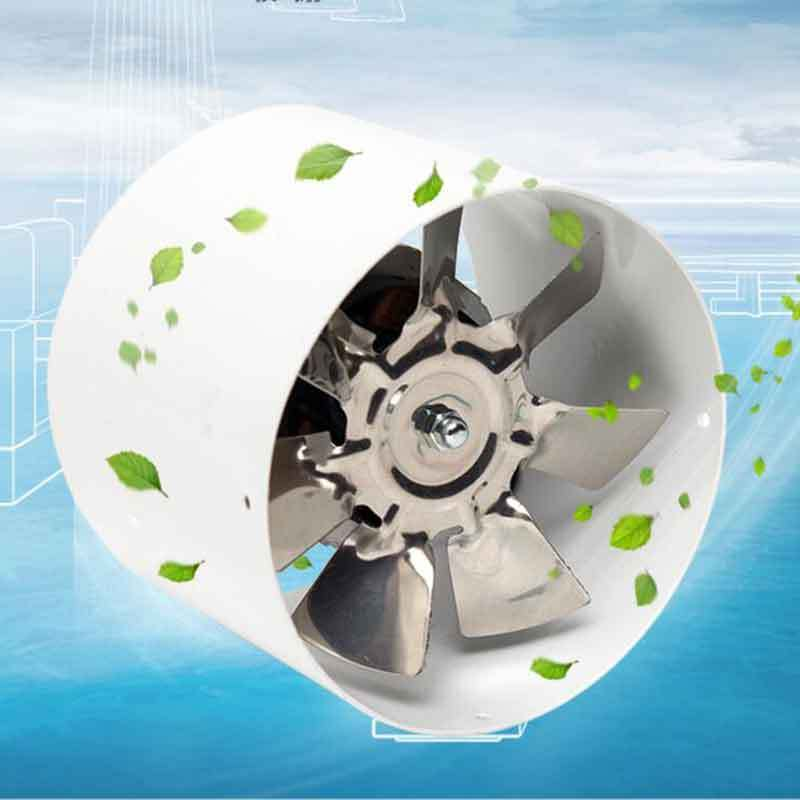 4 Inch Inline Duct Fan Booster Exhaust Blower Metal Air Cooling Vent Fan