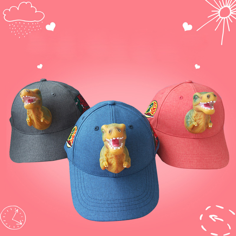 4dc2a1549ac Detail Feedback Questions about 2019 Fashion Christmas New Year Gift Visor  Women Children Cup Cotton Animal Girl Boy Hat 3D Tyrannosaurus Embroidery  ...