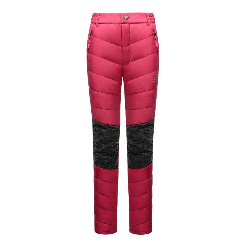 Nord neige hiver épais thermique chaud canard bas randonnée pantalon Ski pantalon femmes Snowboard pantalon glace patinage pantalon pour femmes