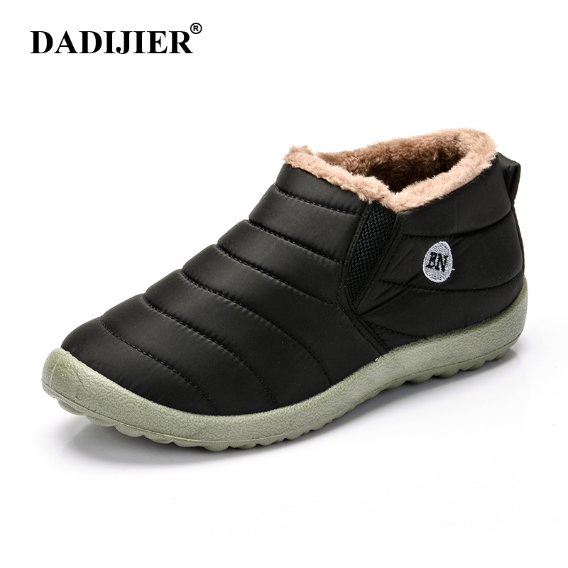 Shoes Men's Boots Discreet Dadijier New Fashion Men Winter Shoes Solid Color Snow Boots Plush Inside Antiskid Bottom Keep Warm Waterproof Ski Boots St228